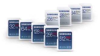Nuevas tarjetas SD Samsung Pro Plus y Evo Plus.  Fuente: Samsung
