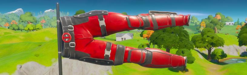 Fortnite Cómo saludar a los pantalones de Deadpool